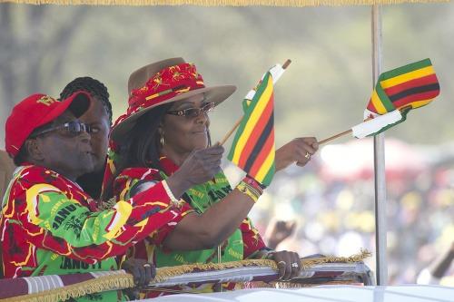 Robert Mugabe a Grace