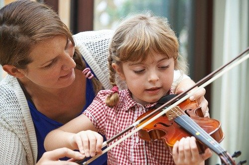 Učenie sa na husliach
