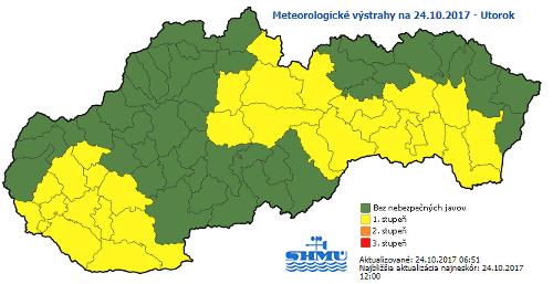 Meteorológovia vydali výstrahu: Slovensko