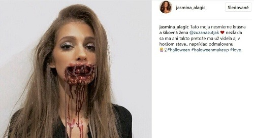 Halloweenska maska Jasmíny Alagič