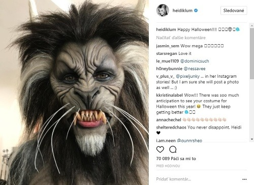 Heidi Klum ako vlkolak.