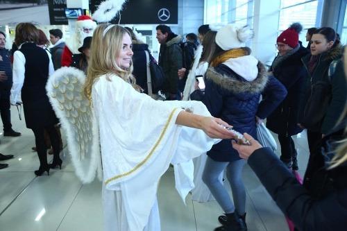 Mikuláš na letisku