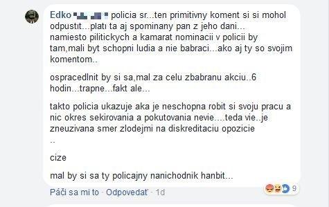 Reakcia polície je hitom