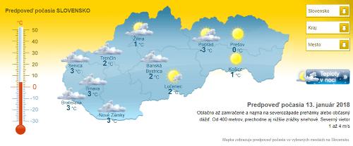 Slovensko čaká poriadne ochladenie