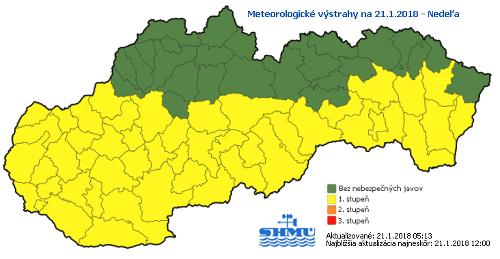 Na Slovensku husto sneží: