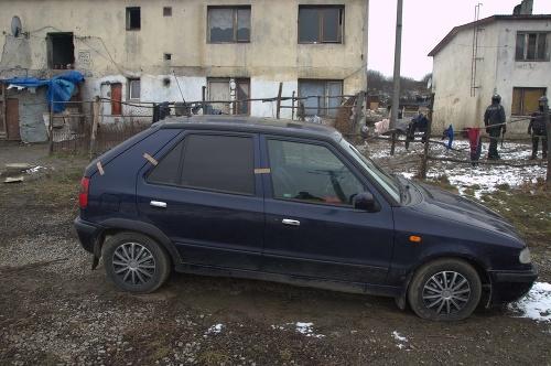 Automobil v inkriminovanej rómskej