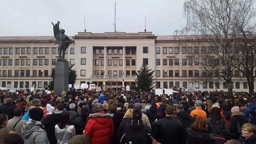 Protest v Nitre