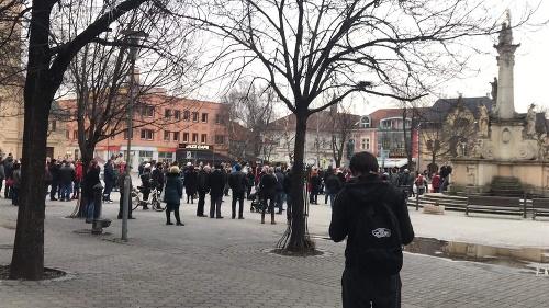 Protest v Nových Zámkoch