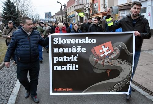 Protest v Michalovciach