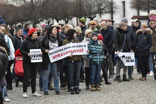 Protest v Skalici