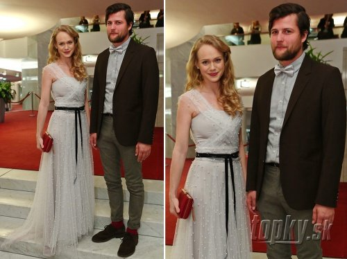 Dominika Morávková s manželom,