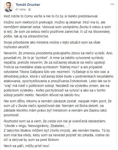 VIDEO Gašpar oznámil, že