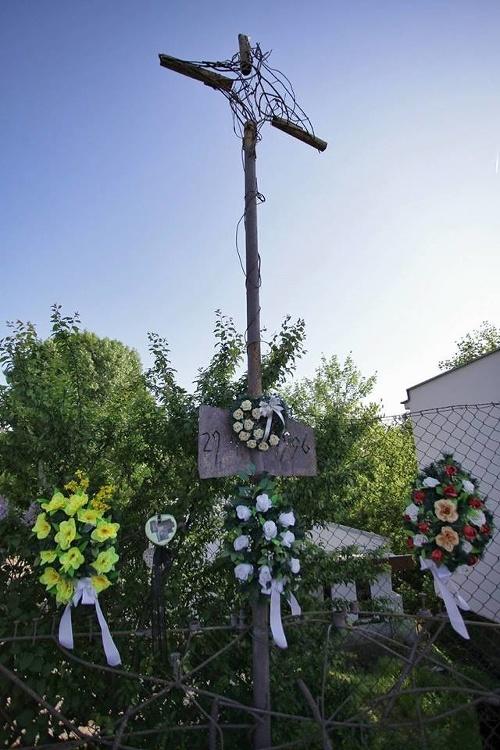 Pamätník na mieste nehody