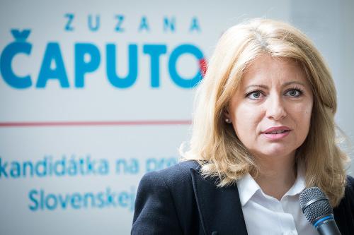 Zuzana Čaputová ohlásila svoju
