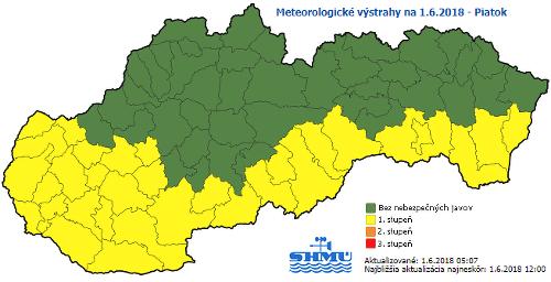Výstraha meteorológov: Väčšinu územia