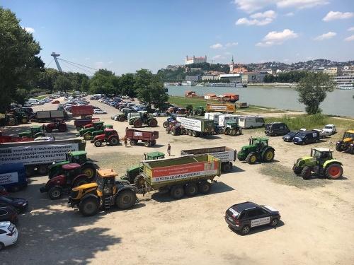 Farmári v Bratislave.
