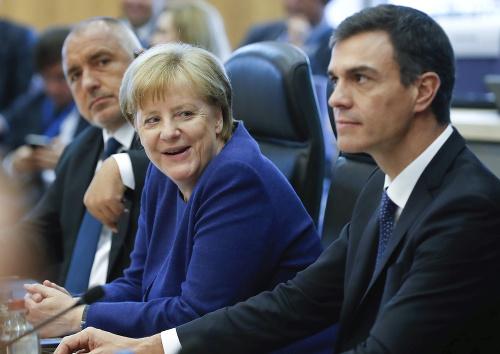 Angela Merkelová a Pedro