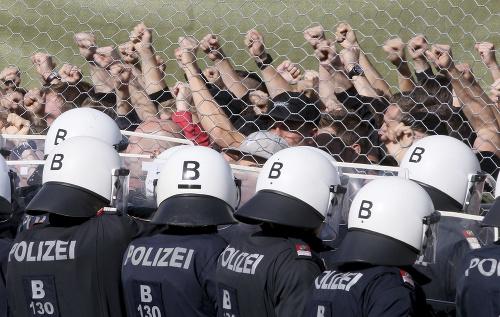 FOTO Cvičenie rakúskej polície