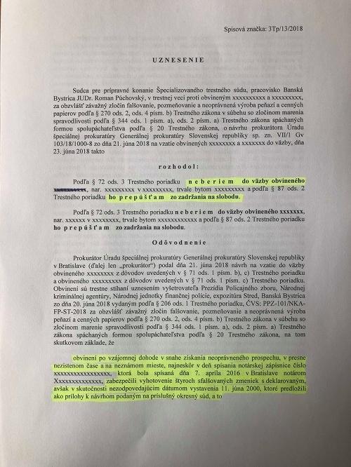 Rozhonutie sudcu o Kočnerovi