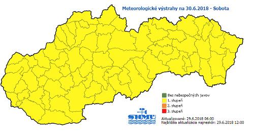 Slovensko čaká v sobotu