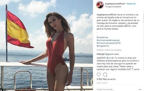 Angela Ponce vyzerá v