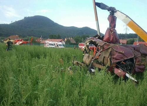 Pád vrtuľníka pri Prešove