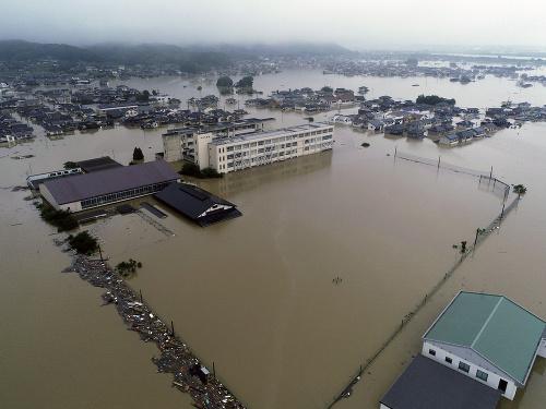 Prudké dažde v Japonsku