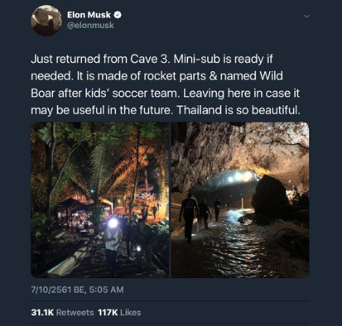 Elon Musk navštívil zaplavneú
