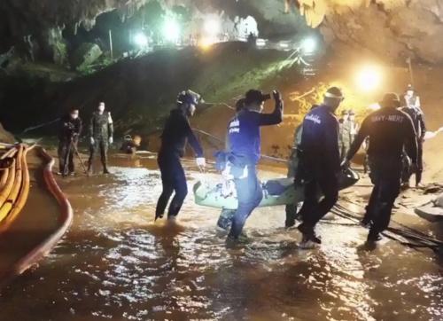 Záchranná akcia v thajskej