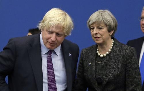 Boris Johnson a Theresa