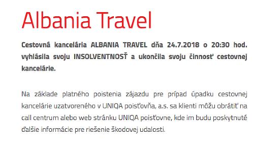 Popradská cestovná kancelária Albania