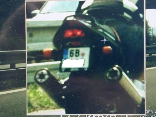 Motocyklista prekročil rýchlosť o