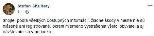 Na Slovensku sa triasla