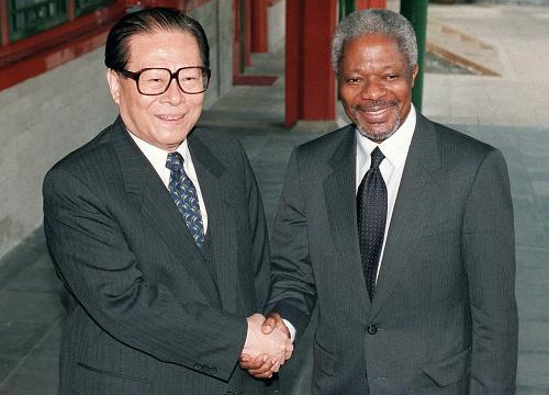 Kofi Annan a Jiang