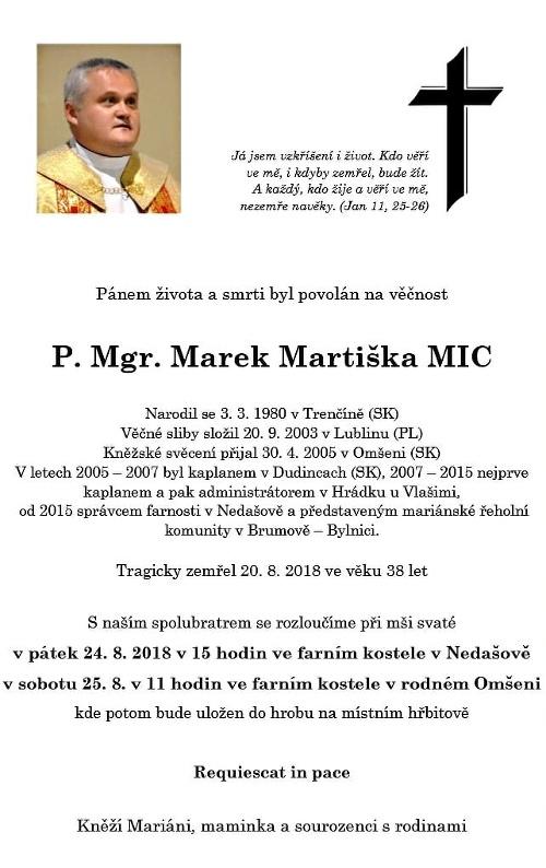 Priest Marek Martiška tragic
