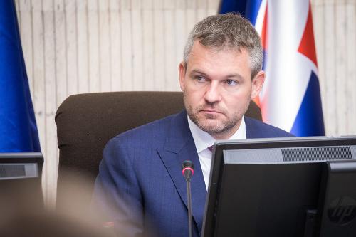 Peter Pellegrini počas rokovania