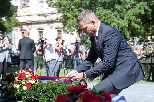 Peter Pellegrini during the sacrifice