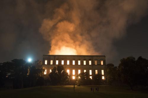 Požiar v múzeu v