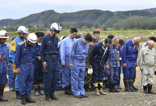 Japonský premiér navštívil oblasť
