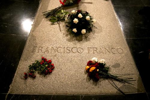 Hrob bývalého španielskeho diktátora