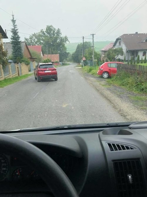 Nehoda v obci Rabčine.