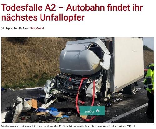 Dodávka na nemeckej diaľnici