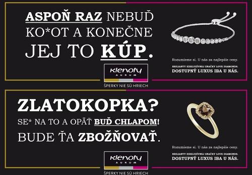 4eaa2f148 Slovákov šokovala kontroverzná kampaň na šperky: Firma obhajuje vulgarizmus  najhrubšieho zrna – galéria | Topky.sk - Bleskovky