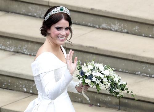 Princezná Eugenie ako nevesta.