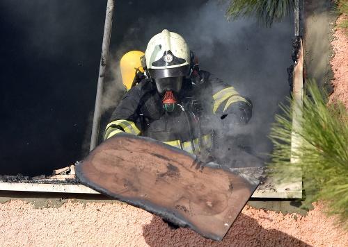 Požiar v obci Nižný
