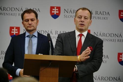 Zľava: Igor Matovič a