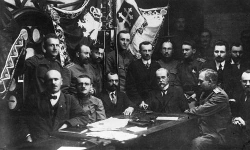 Masaryk v januári 1918.