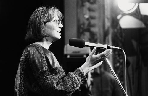 Marta Kubišová na zhromaždení