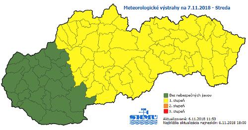 Vodiči, buďte opatrní: Meteorológovia