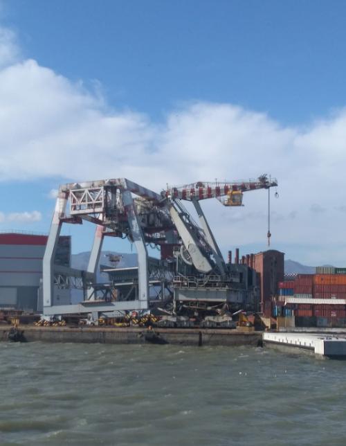 Taliansky prístav v Janove.